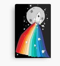 Pride Rocket Metal Print