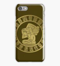 Mayan calendar in the style of boho iPhone Case/Skin