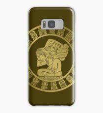 Mayan calendar in the style of boho Samsung Galaxy Case/Skin