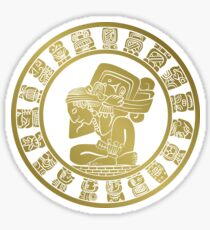Mayan calendar in the style of boho Sticker