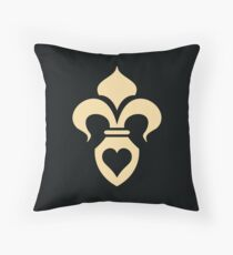 Fleur de lis/ black Throw Pillow
