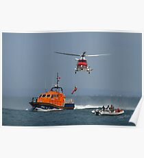 Bembridge Lifeboat & Helicopter Poster