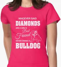 Woman Bulldog T Shirt Gift  T-Shirt