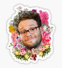 Seth Rogen Floral Sticker