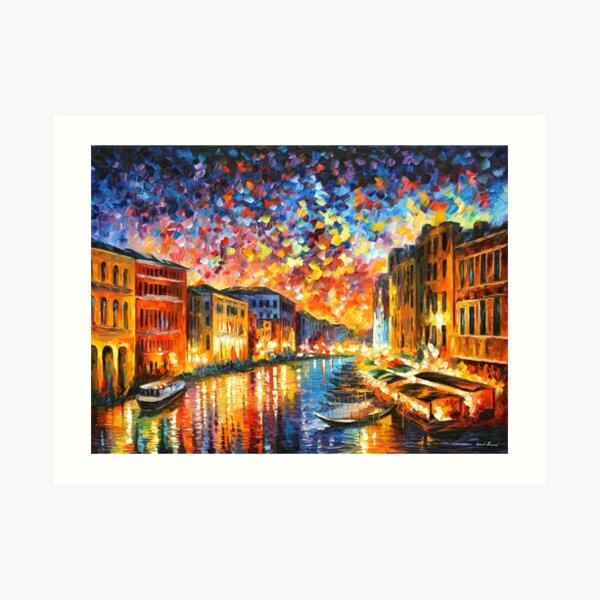 VENICE - GRAND CANAL - Leonid Afremov Art Print