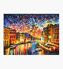 VENICE - GRAND CANAL - Leonid Afremov Photographic Print