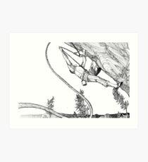 hang and clip Art Print