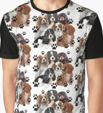 Cavalier Spaniel Family Group Graphic T-Shirt