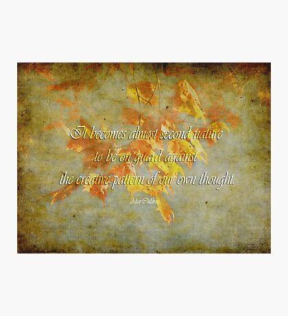 second nature-inspirational Photographic Print