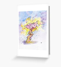 Smile in the clouds amongst the storm Greeting Card