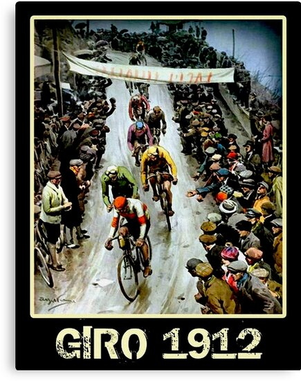 GIRO; Vintage Bicycle Race Advertising Print by posterbobs