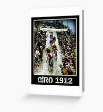 GIRO; Vintage Bicycle Race Advertising Print Greeting Card