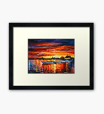 HELSINKI - SAILBOATS AT YACHT CLUB - Leonid Afremov Framed Print