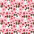Papillon valentines day dog pattern cute gifts for dog lover unique dog breeds accessories by PetFriendly by PetFriendly