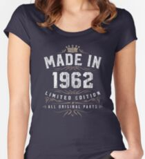 Made In 1962 - All Original Parts - Birthday Women's Fitted Scoop T-Shirt