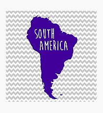 South America Chevron Continent Series Photographic Print