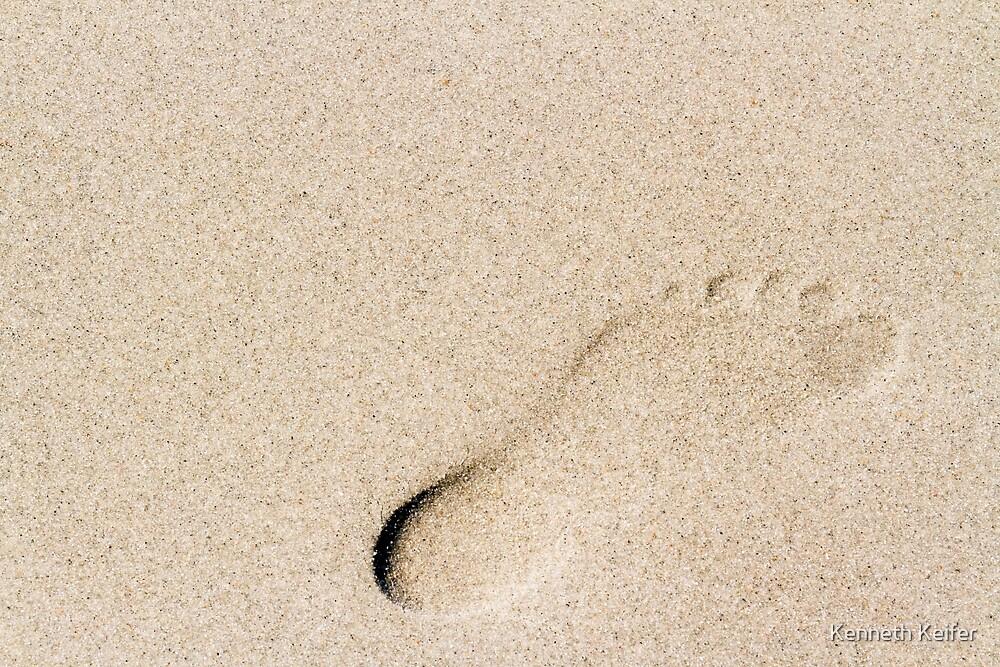 Sandy Footprint by Kenneth Keifer