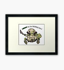 League of Legends- Urgot funny pun Framed Print