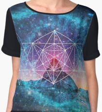 Sacred Geometry - Space Triplet Chiffon Top