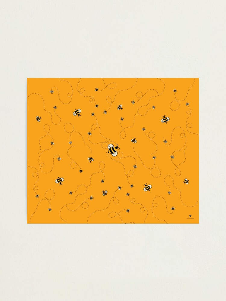 Alternate view of Busy as a Bee w/BG Photographic Print
