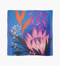 Inky Protea in Blue  Scarf