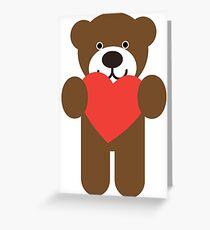 Teddy Bear Heart Greeting Card