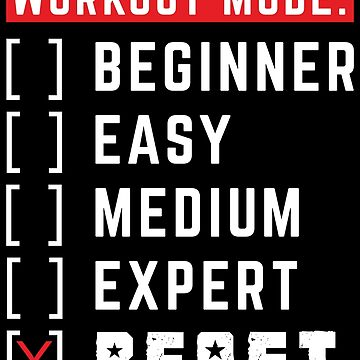 Workout Mode Beast Gym Motivation Fitness Design by GreensDream