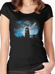 the lighthouse of gallifrey Women's Fitted Scoop T-Shirt