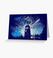 the lighthouse of gallifrey Greeting Card