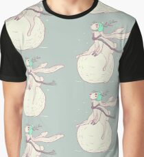 Winter rabbit and snowball Graphic T-Shirt