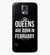 Queens are born in February Case/Skin for Samsung Galaxy