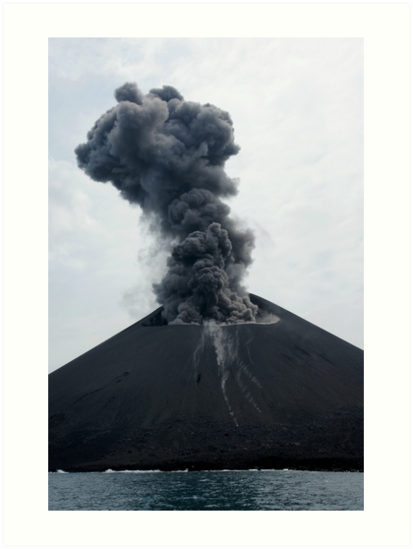 Eruption on Anak Krakatau. Sunda Strait. Indonesia. by Ian Hallmond