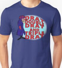 Dick Dastardly, Drat, Double Drat and Triple Drat! Unisex T-Shirt