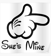 Couple She's Mine World Happy Valentine Day She is Mine Poster