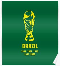 Brazil World Cup wins Poster