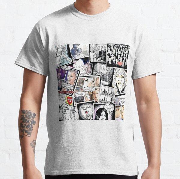 Peyton collage d'œuvres d'art T-shirt classique