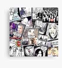 peyton's artwork collage Canvas Print