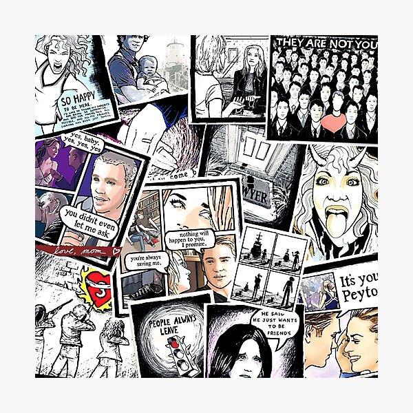 peyton's artwork collage Photographic Print