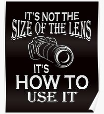 Photographer T Shirt -Funny Tee Poster