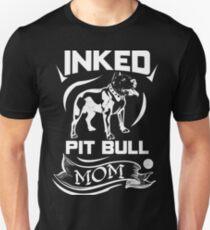 Inked Pit Bull Mom Unisex T-Shirt