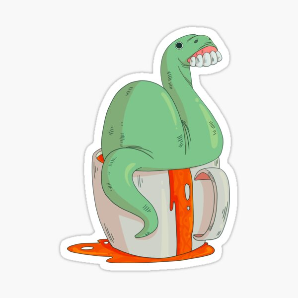A cup of Nessie Sticker