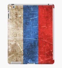 Vintage Aged and Scratched Russian Flag iPad Case/Skin