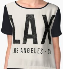 LAX Los Angeles airport code Chiffon Top