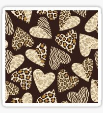 Hearts and animal print Sticker