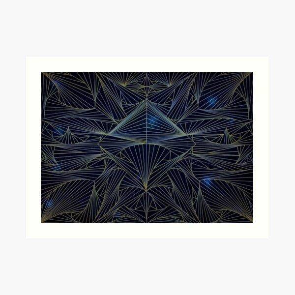 Universo Lineas Art Print