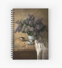 Still life with bouquet of fresh lilac Spiral Notebook