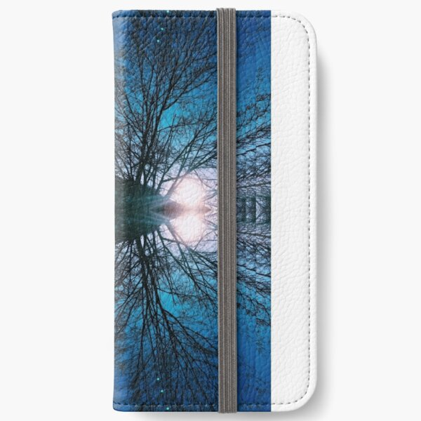 Blue Winter Sky and Trees iPhone Wallet