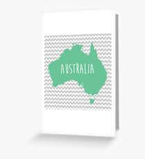 Australia Chevron Continent Series Greeting Card