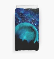 Over the Moon We Go Duvet Cover