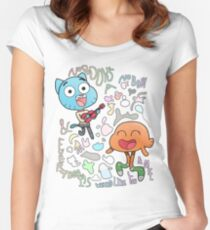 Nobody's A Nobody Gumball and Darwin Fitted Scoop T-Shirt